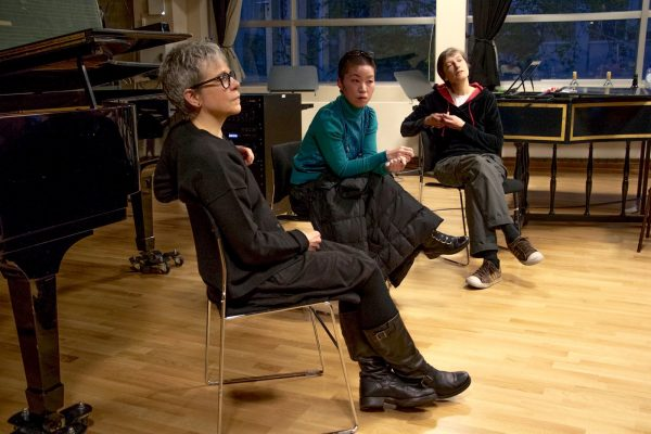 The panel: Me, Ji Youn Kang, Mariette Groot
