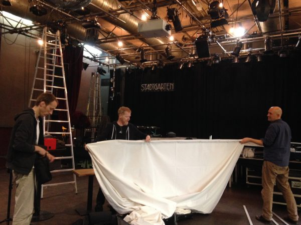 Setting the screens at Stadtgarten